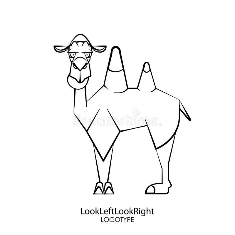 Lustiges Kamel 2 stock abbildung