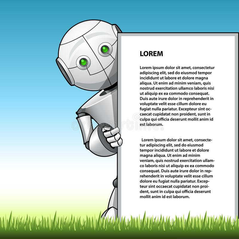 Lustiges Kinderrobotervertretungs-Anzeigenbrett vektor abbildung