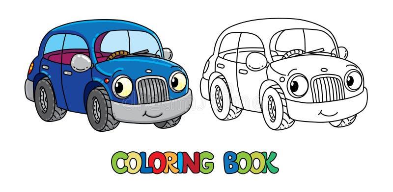 Lustiges kleines Auto mit Augen Bunte grafische Abbildung lizenzfreie abbildung