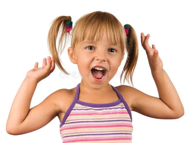 Lustiges kleines Mädchen lizenzfreies stockbild