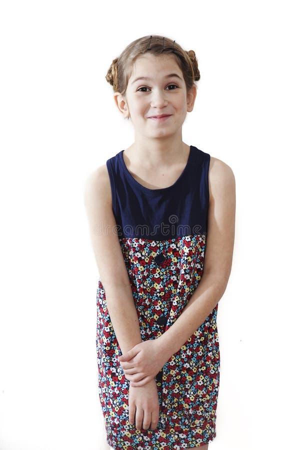 Lustiges lächelndes kleines Mädchen stockbilder
