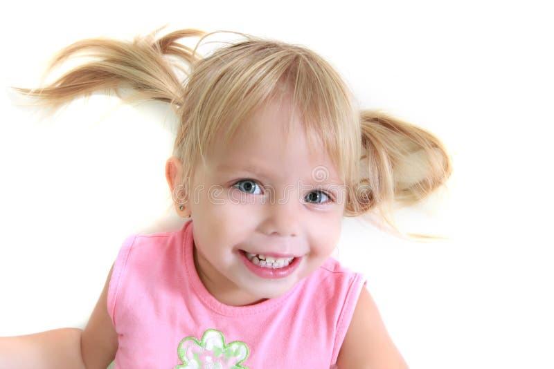 Lustiges Mädchenportrait stockfotos