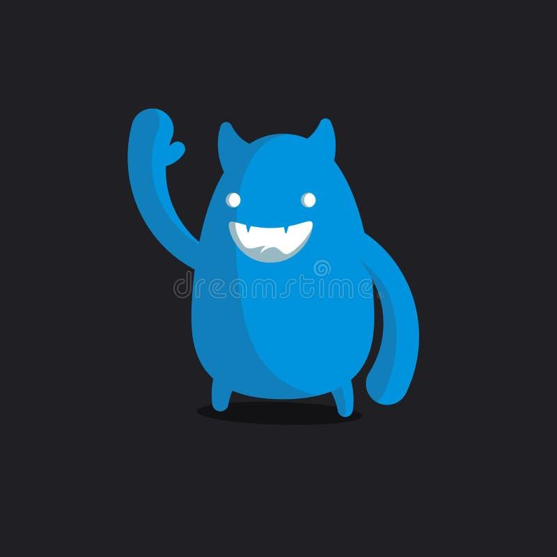 Lustiges Monster des Logos, Monsterkopf vektor abbildung