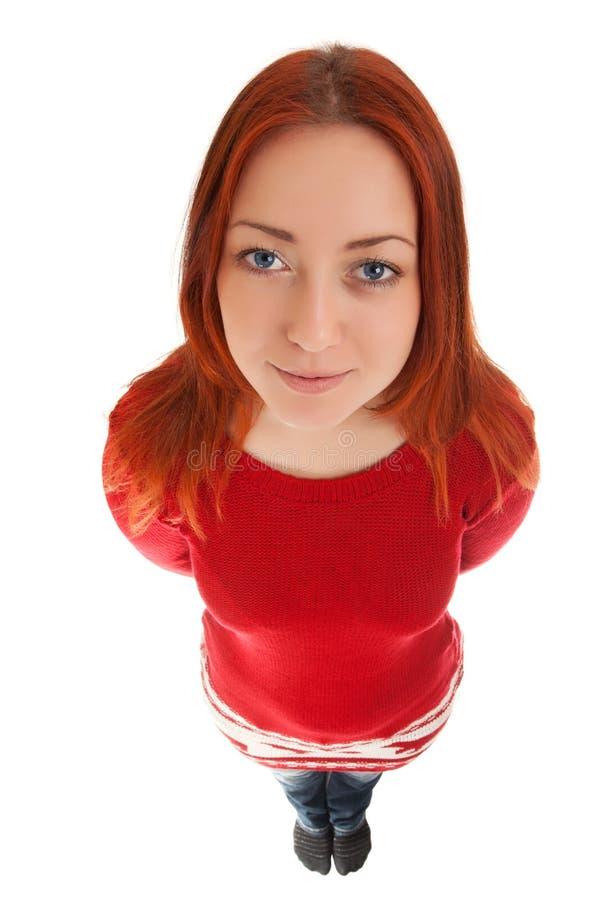 Lustiges Porträt der jungen Frau lizenzfreie stockfotos