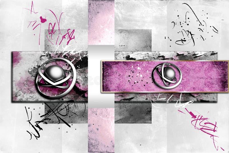 Lustiges Projekt der abstrakten Farbdesignkunst-Illustration stock abbildung