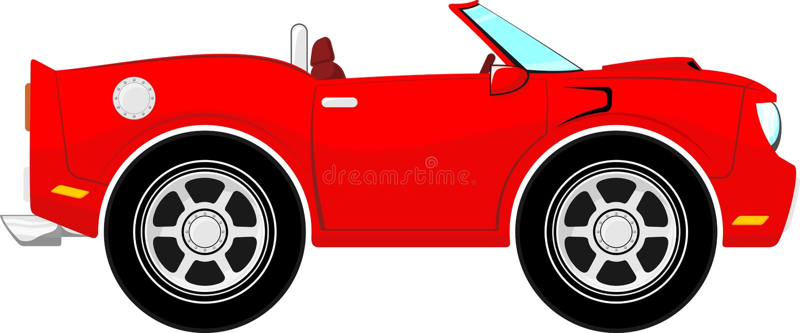 Lustiges rotes konvertierbares Auto lizenzfreie abbildung