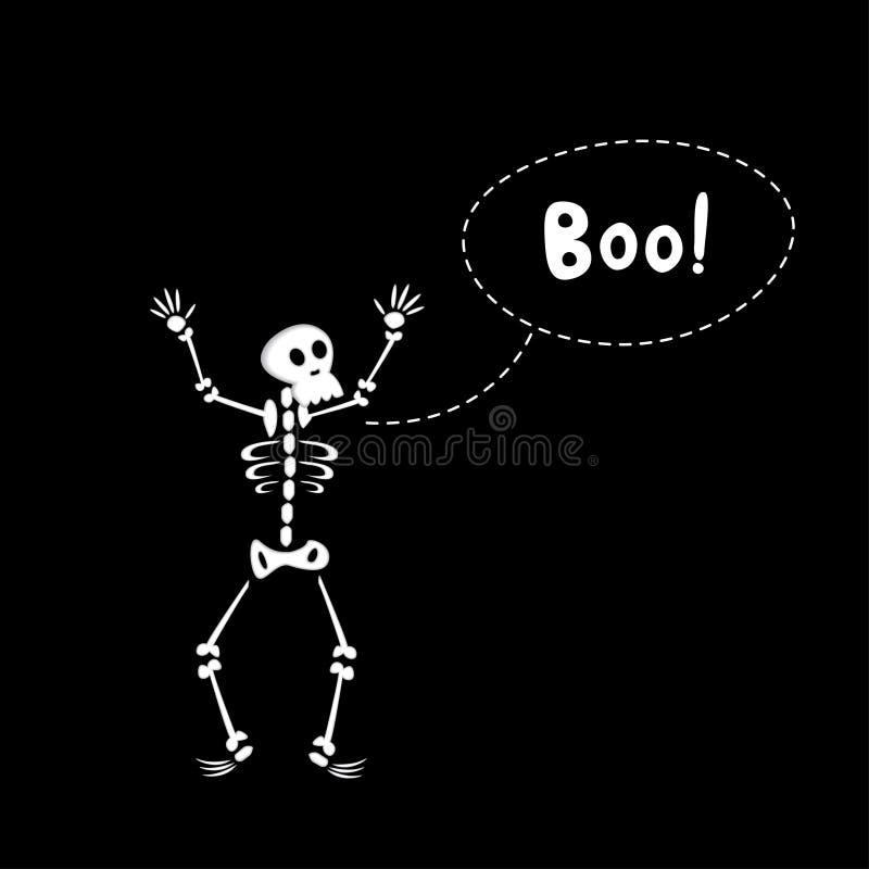 Lustiges Skelett lizenzfreie abbildung