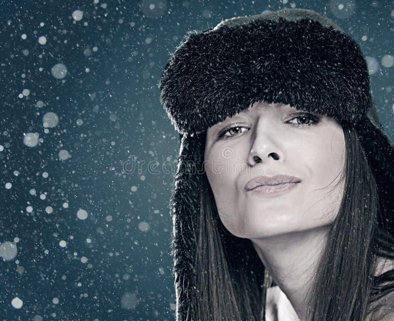 Lustiges weibliches Porträt lizenzfreies stockfoto