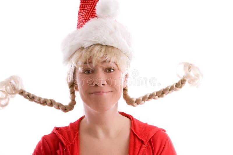 Lustiges Weihnachtsmädchen stockbild