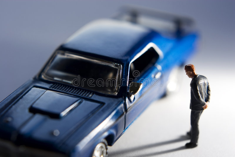 Lusting over a new car royalty free stock photos