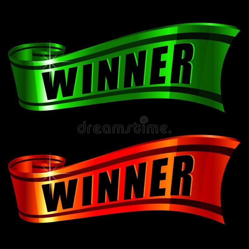 Lustré rouge et vert illustration de vecteur