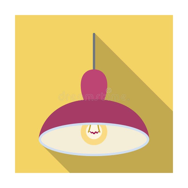 Lustre avec l'ampoule La lumière dans la barre Icône simple de bar dans l'illustration plate d'actions de symbole de vecteur de s illustration de vecteur