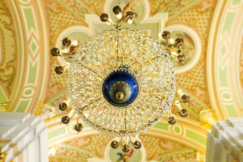 Lustre de la cathédrale de Petropavlovsk image libre de droits