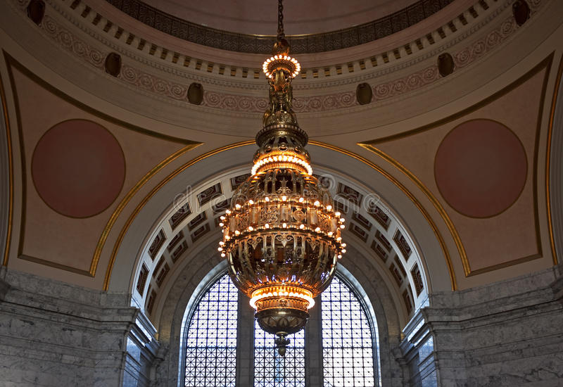 Lustre de Tiffany, capitol de l'état de Washington image stock