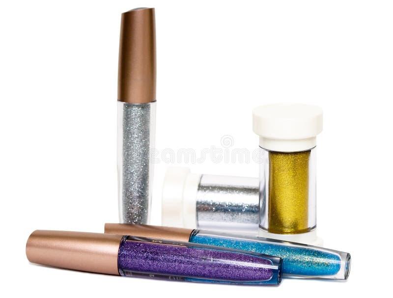 Lustre pour les languettes et le mascara photographie stock
