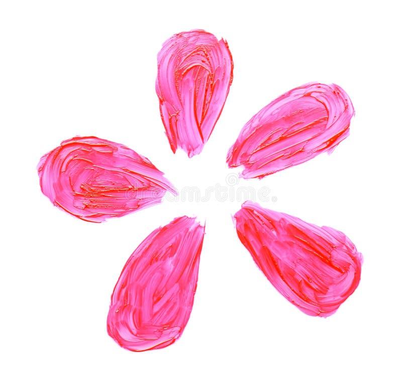 Lustre rosado del labio, aislado imagenes de archivo
