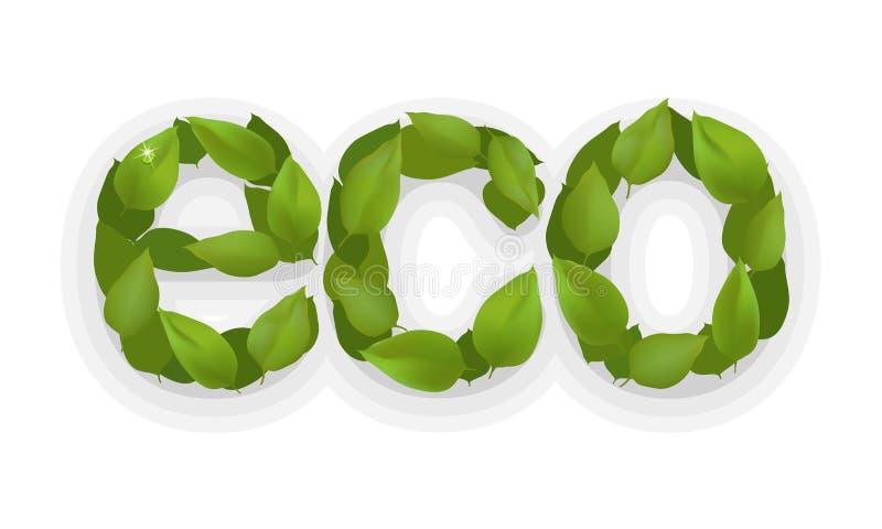 Lustro creativo del freshwaterdrop di stile organico naturale di affari dell'elemento dell'estratto di ecologia di progettazione  royalty illustrazione gratis