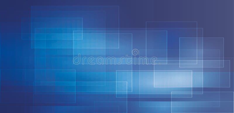 Lustro della geometria del fondo dei blu navy e vettore astratti dell'elemento di strato illustrazione vettoriale