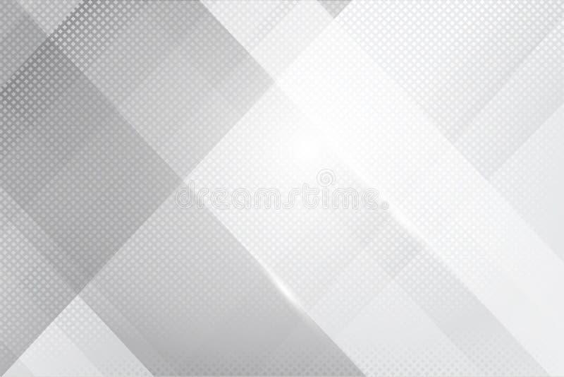 Lustro della geometria del fondo di Grey Abstract e vettore dell'elemento di strato illustrazione vettoriale