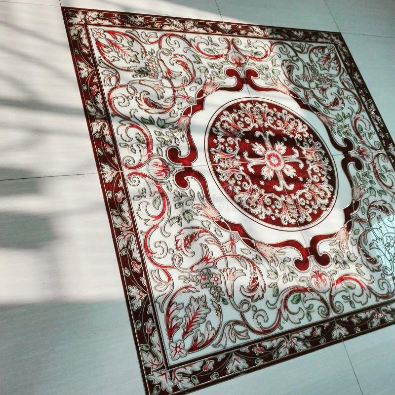 Lustro di Sun sull'mattonelle fotografia stock libera da diritti