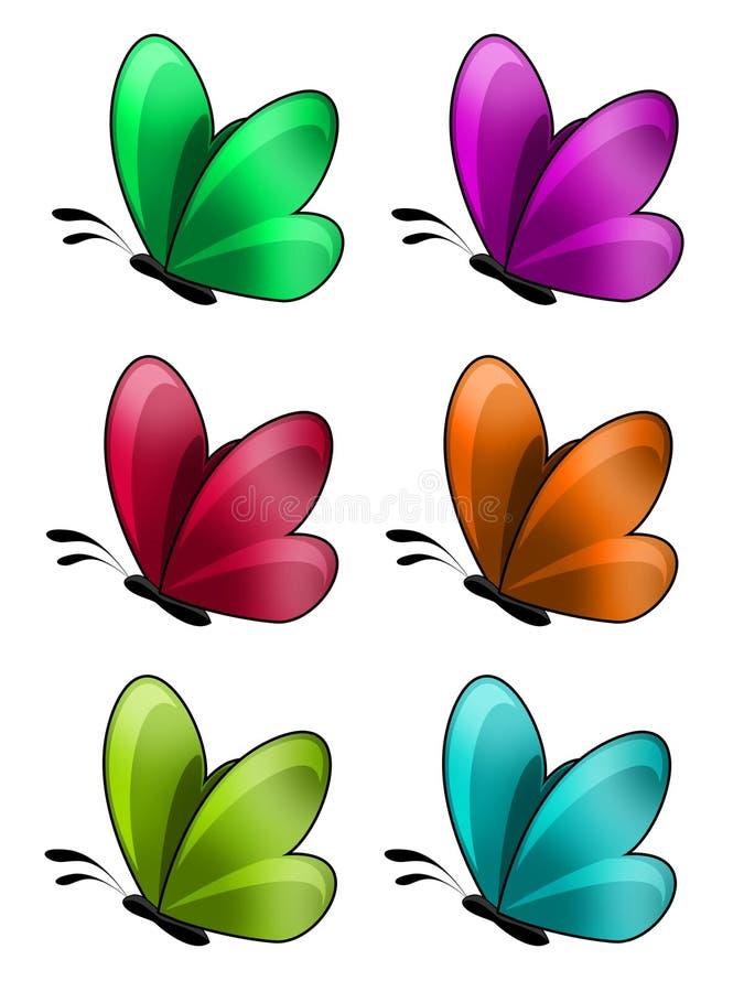 Lustro e farfalla lucida fotografia stock libera da diritti