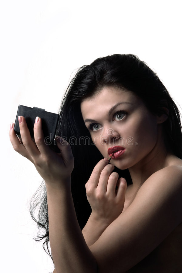 lustrzana wygląda kobieta fotografia royalty free