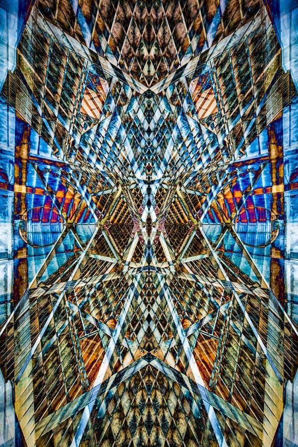 Lustrzanego montażu symetryczny wzór obrazy royalty free