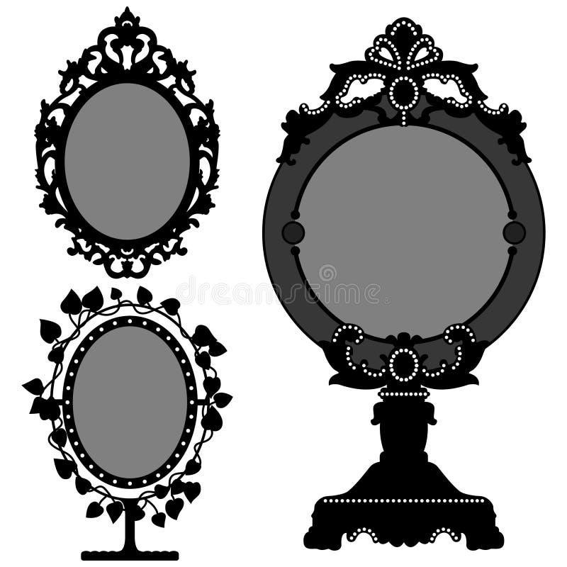 lustrzanego ozdobnego princess retro rocznik ilustracja wektor