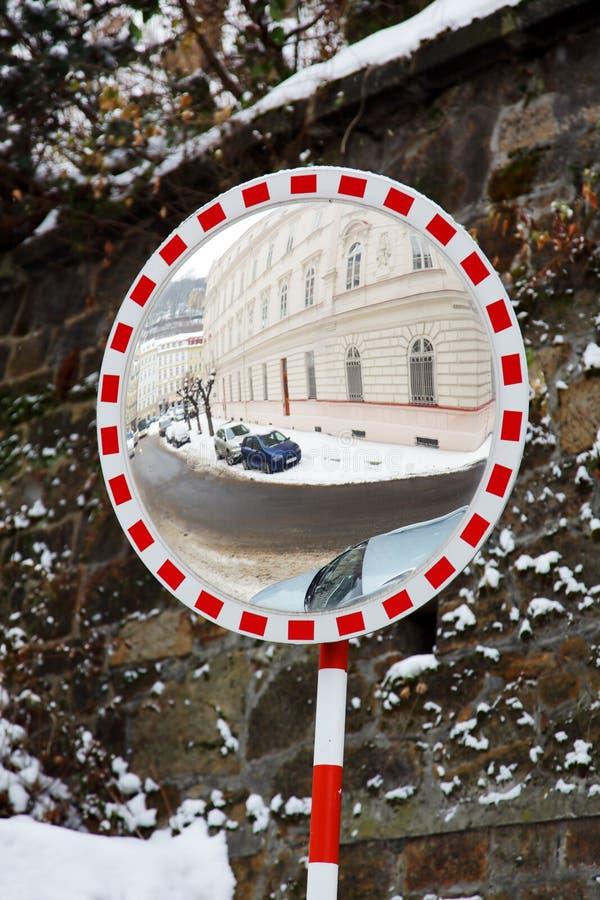 lustrzany drogowy zwrot fotografia royalty free