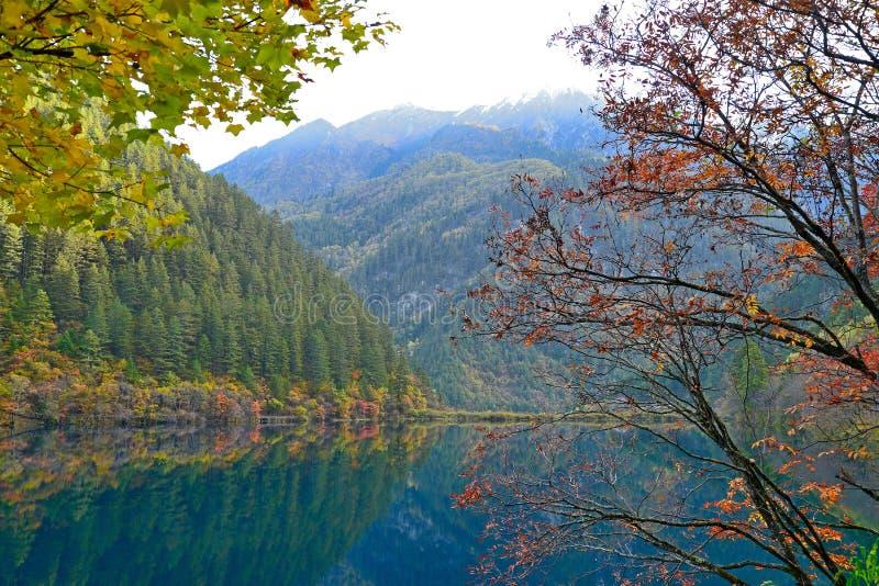 Lustrzany jezioro, Jiuzhaigou obraz stock