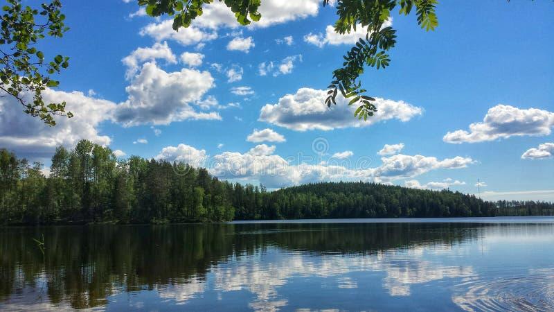 Lustrzany jezioro krajobraz fotografia stock