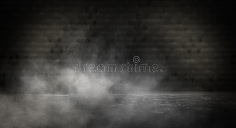 Lustrzany magicznego, pomyślności mówić, i zadość pragnienia Ściana z cegieł z gęstym dymem, zdjęcie royalty free