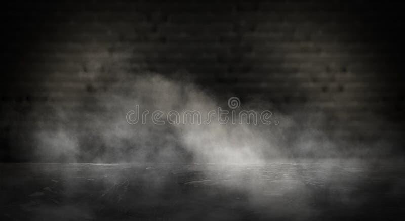 Lustrzany magicznego, pomyślności mówić, i zadość pragnienia Ściana z cegieł z gęstym dymem, obraz royalty free