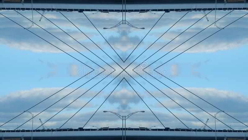 Lustrzany skutek most ilustracja wektor