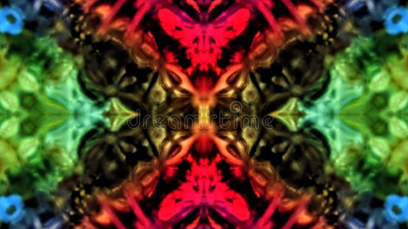 Lustrzany skutek na barwionym krysztale ilustracji
