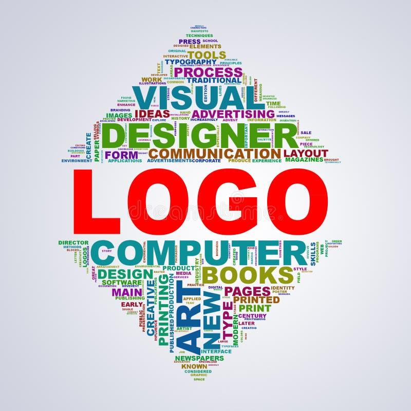 Lustrzany trójboka projekta wordcloud oznacza loga ilustracja wektor