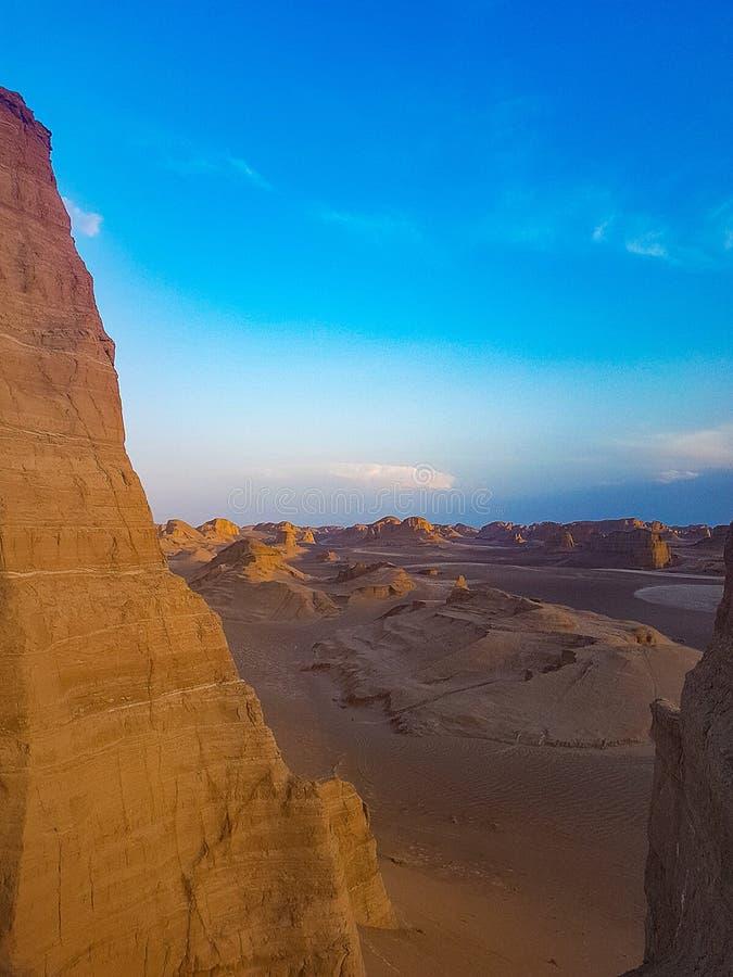 Lut Desert i Iran royaltyfria bilder