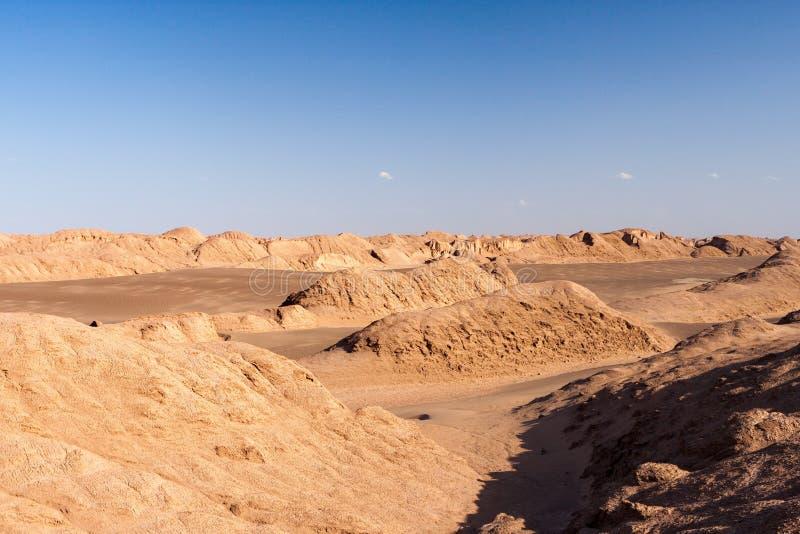Lut Desert i Iran Sanddyn av den iranska öknen fotografering för bildbyråer