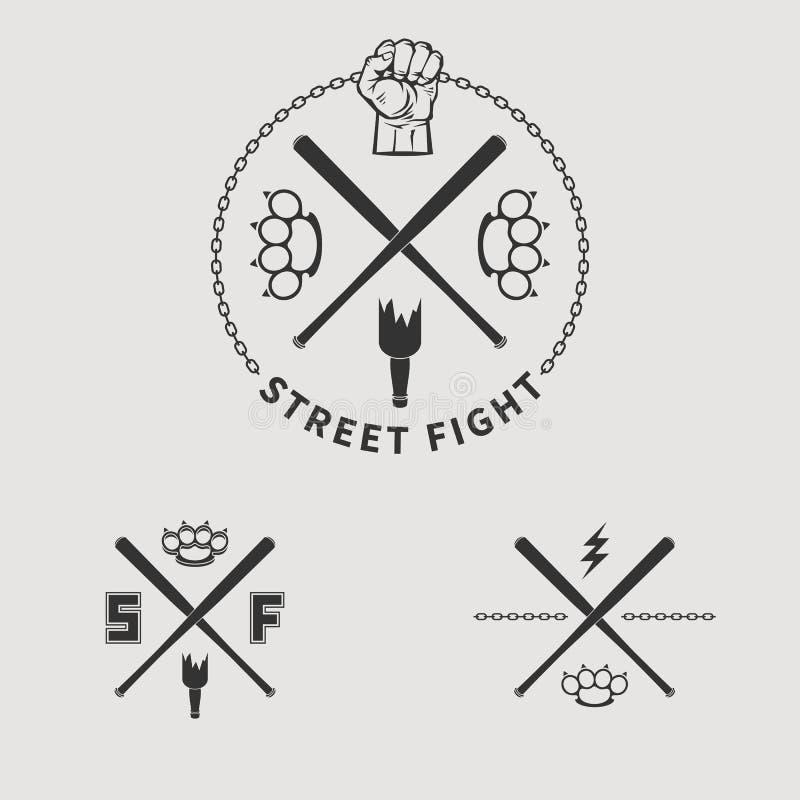 Luta 1 da rua ilustração stock