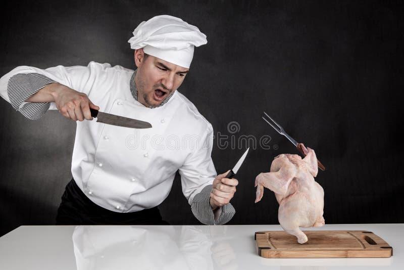 Luta do cozinheiro foto de stock