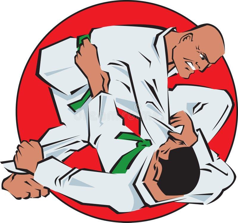 Luta do judo ilustração stock
