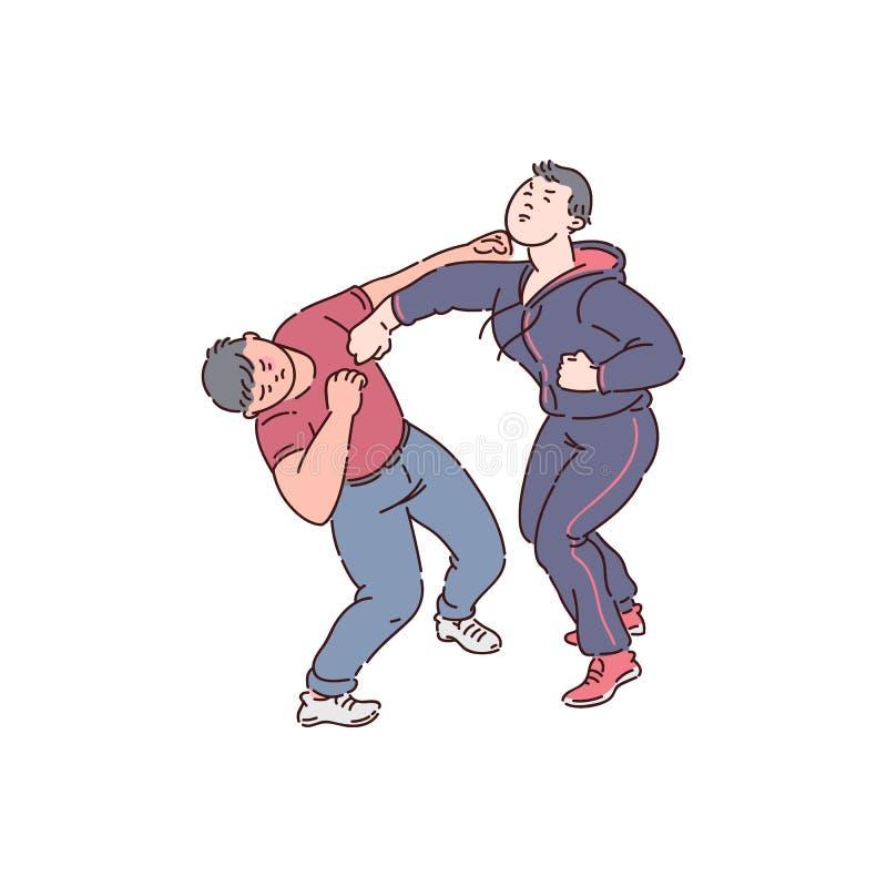 Luta do punho de dois homens ilustração royalty free