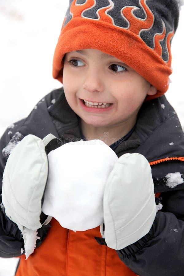 Luta do Snowball imagem de stock