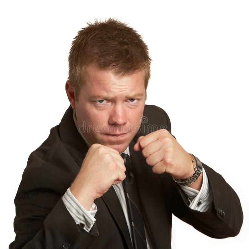 Luta dos punhos do homem de negócios foto de stock royalty free