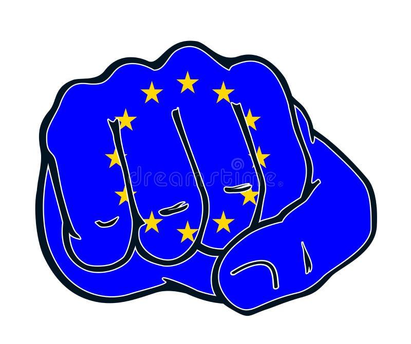 Luta Europa da nação do punho ilustração do vetor