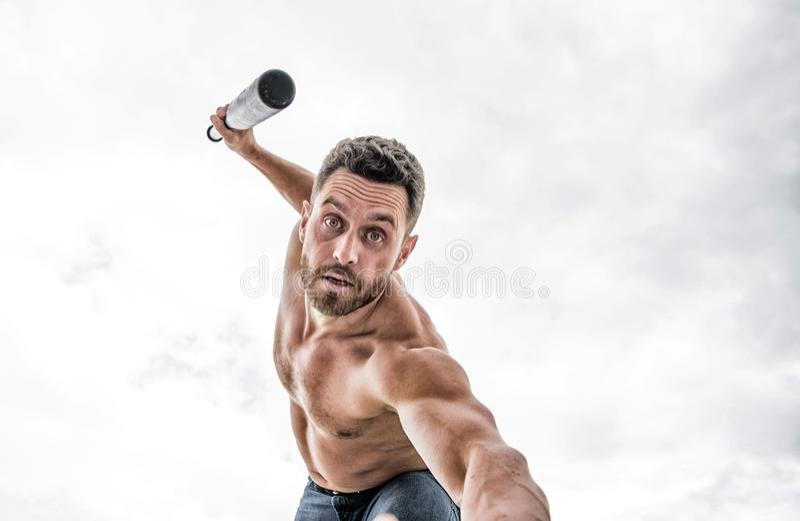 ( Luta muscular do homem E Luta da rua imagens de stock royalty free