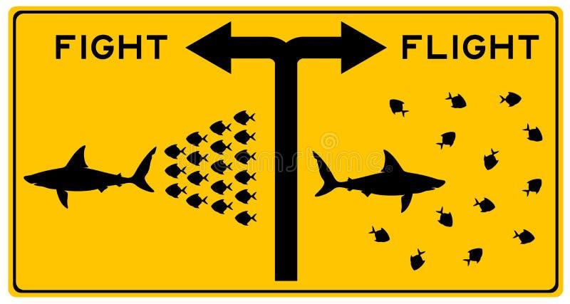 Luta ou voo ilustração stock