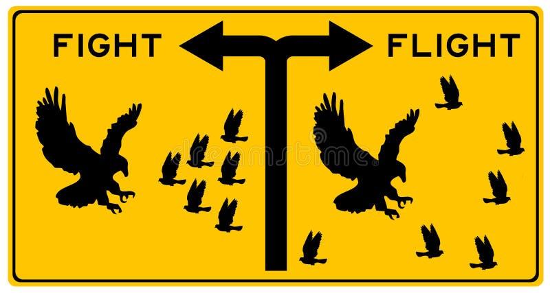 Luta ou voo ilustração do vetor