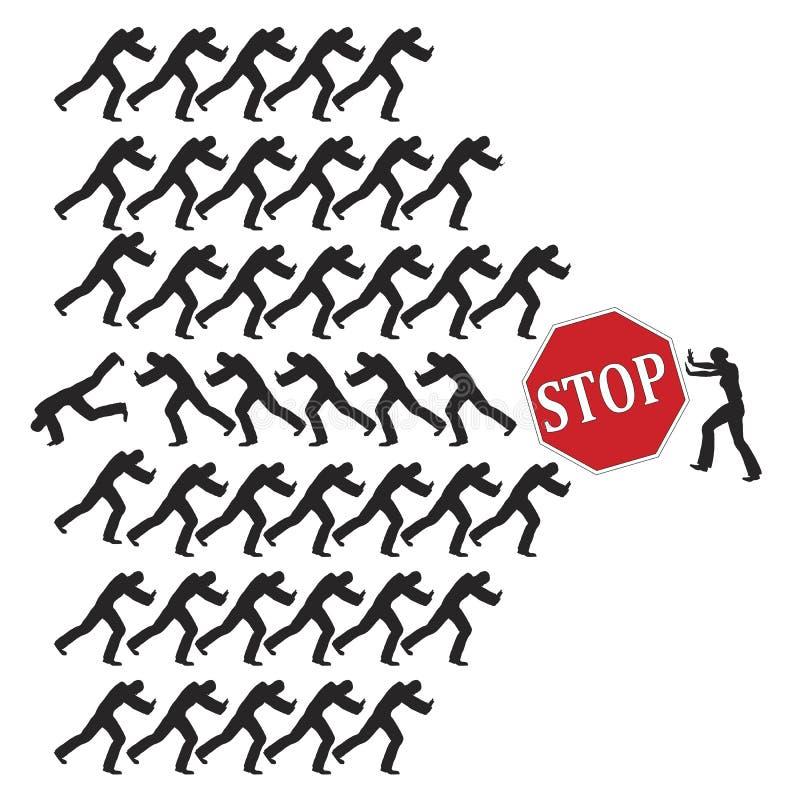 Luta para direitos iguais ilustração royalty free