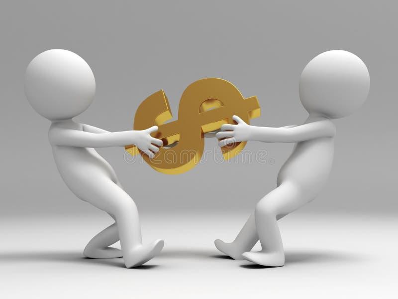 Luta para o dólar ilustração royalty free